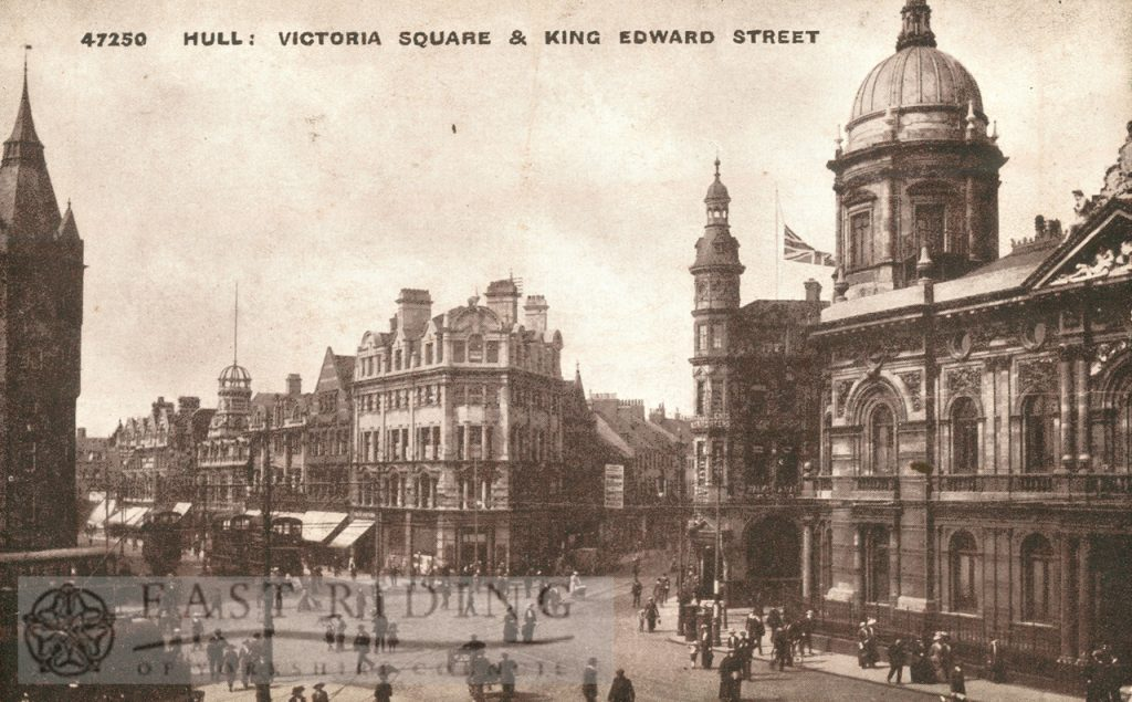 Victoria Square and King Edward Street from south west, Hull 1900s