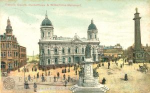 Victoria Square, Dock Offices and Wilberforce Monument from south west, Hull 1905