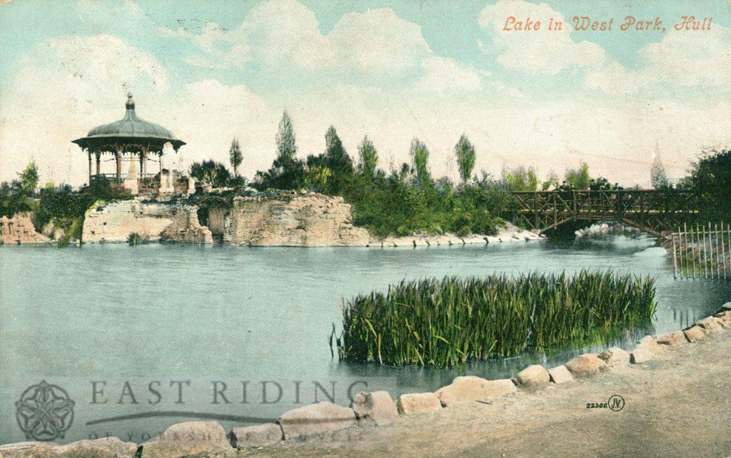 West Park lake, Hull 1905