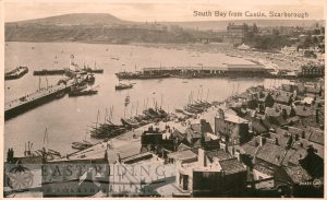 South Bay and harbour from castle, Scarborough 1916