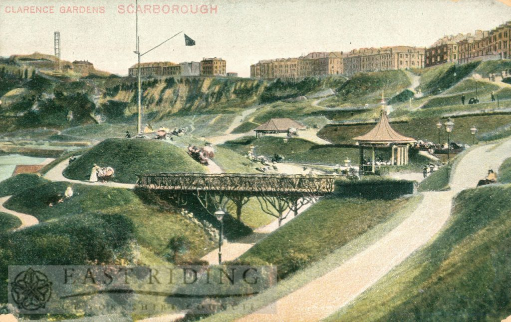 Clarence Gardens from north west, Scarborough 1900
