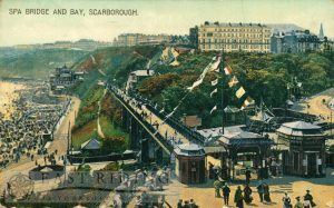 Spa Bridge and South Bay from north east, Scarborough 1900s
