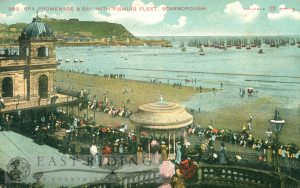 Spa Promenade, bay and fishing fleet from south west, Scarborough 1905