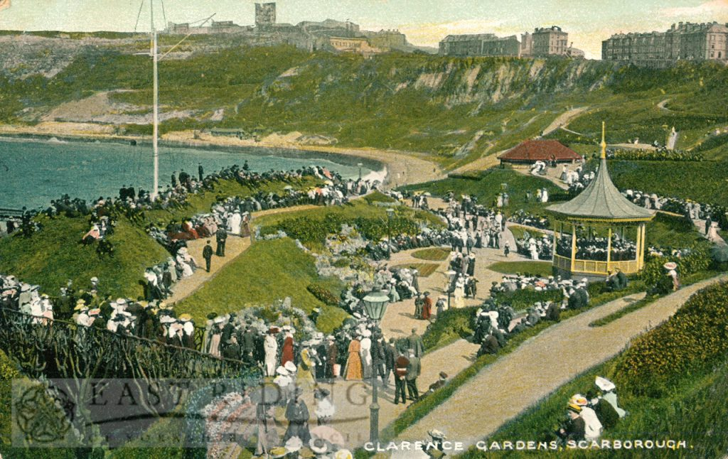 Clarence Gardens from north west, Scarborough 1907