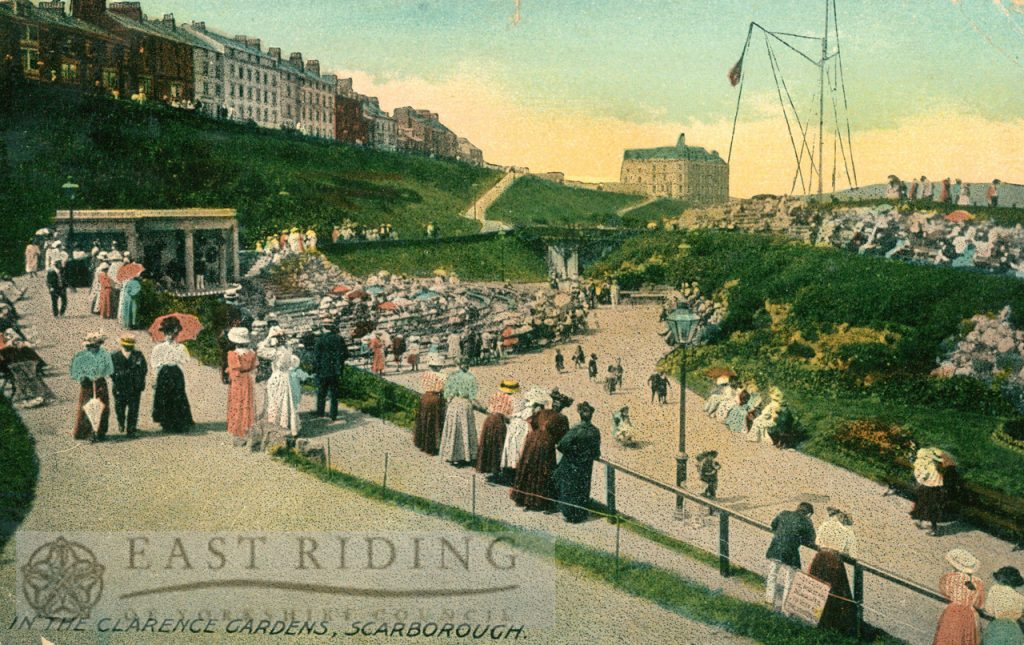 Clarence Gardens from south east, Scarborough 1910