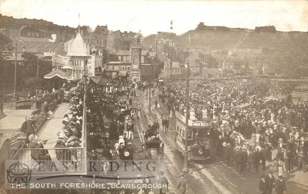 South Foreshore from south west, Scarborough 1900s