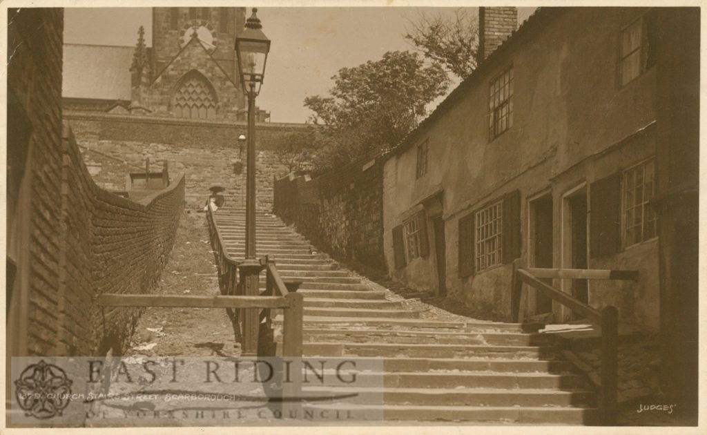 Church Stairs Street from south, Scarborough 1911