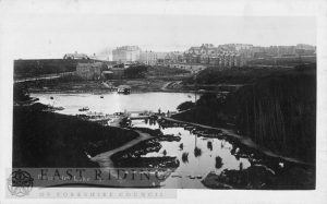 Peasholm Lake under consruction, Scarborough 1912