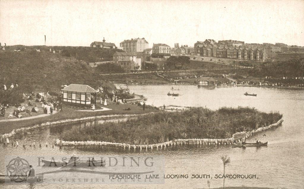 Peasholm Lake from north, Scarborough 1920
