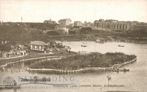 Peasholm Lake from north, Scarborough 1920