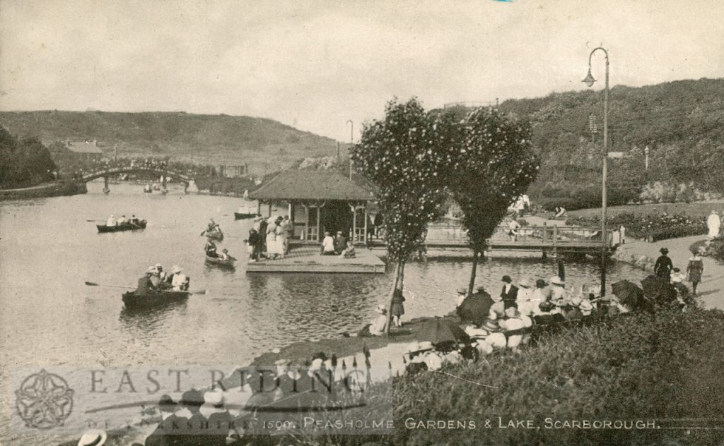 Peasholm Lake and gardens, Scarborough 1920s