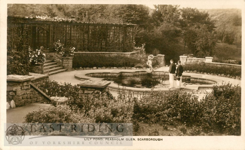 Peasholm Park, Lily Pond, Scarborough 1930