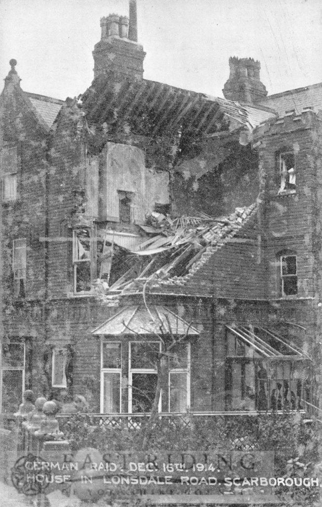 War damage, Londsdale Road, Scarborough 16 Dec 1914