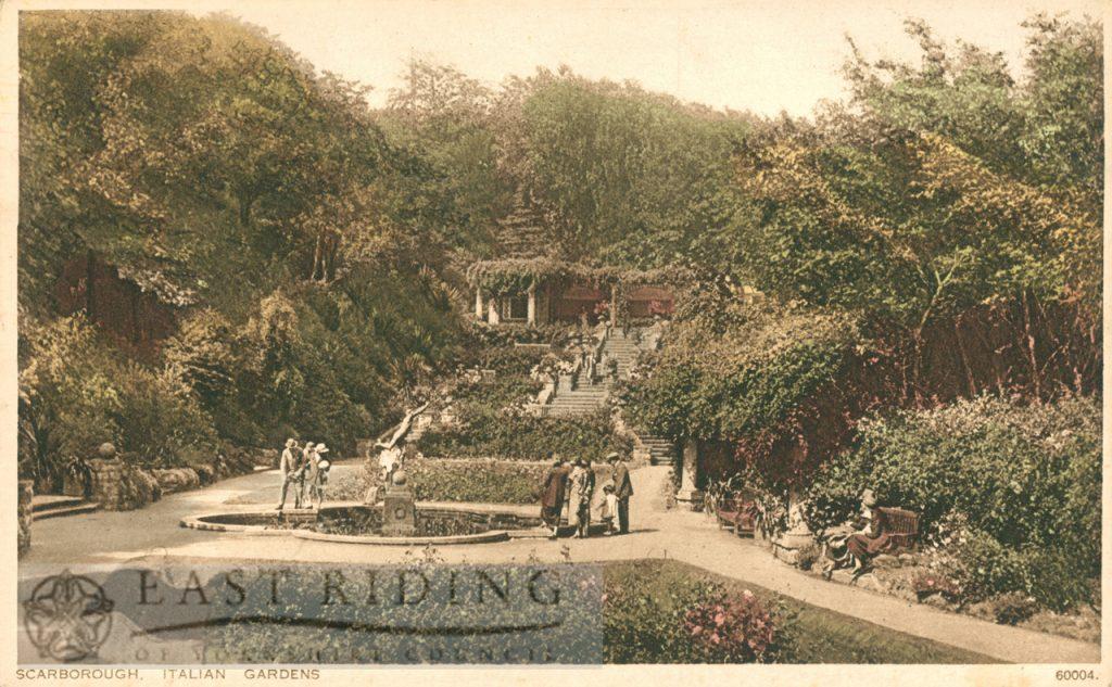 Italian Gardens, Scarborough 1920s