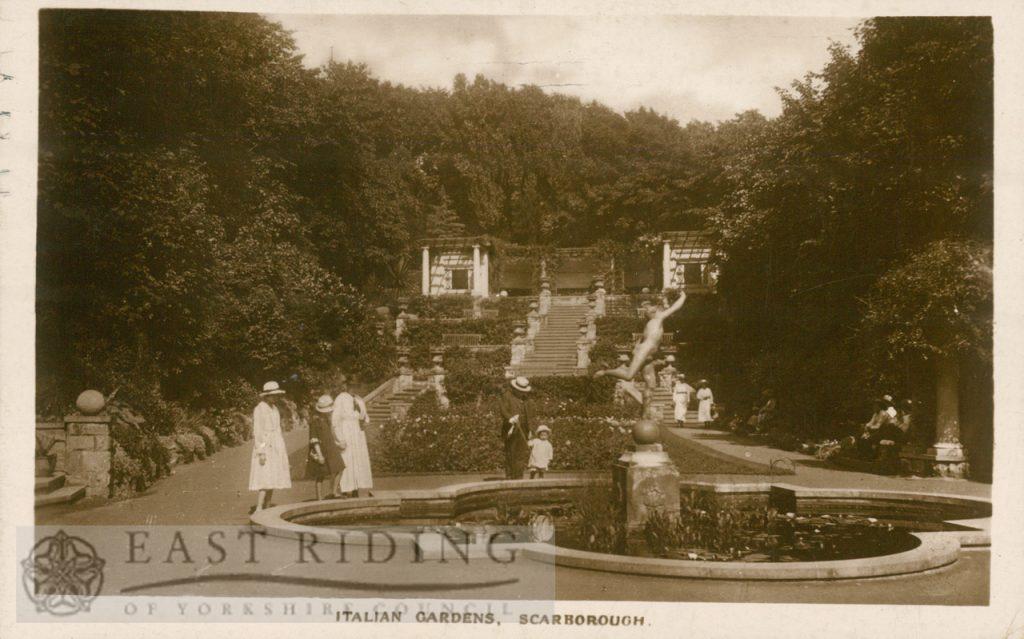 Italian Gardens, Scarborough 1922