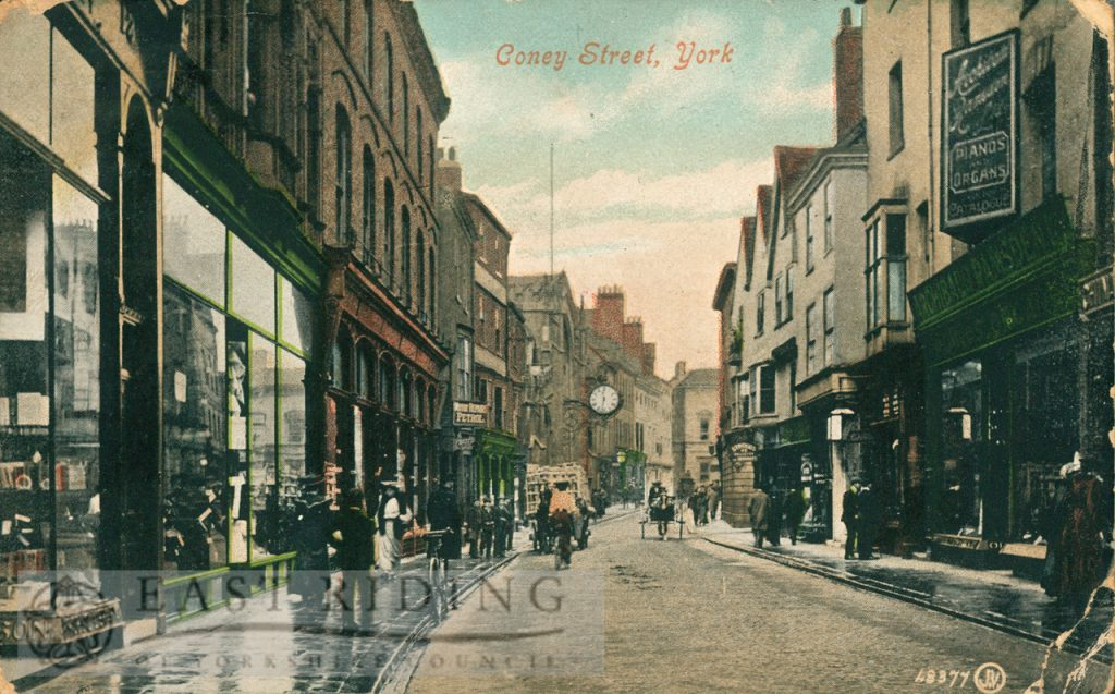 Coney Street from south east, York 1906