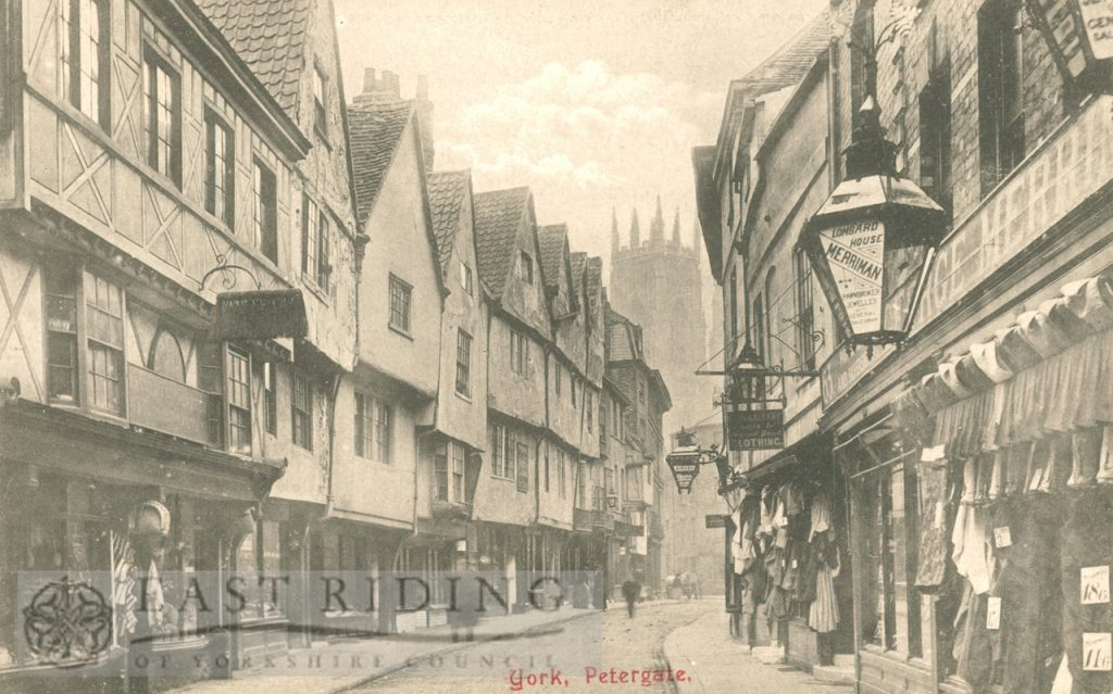 Low Petergate from south east, York 1900